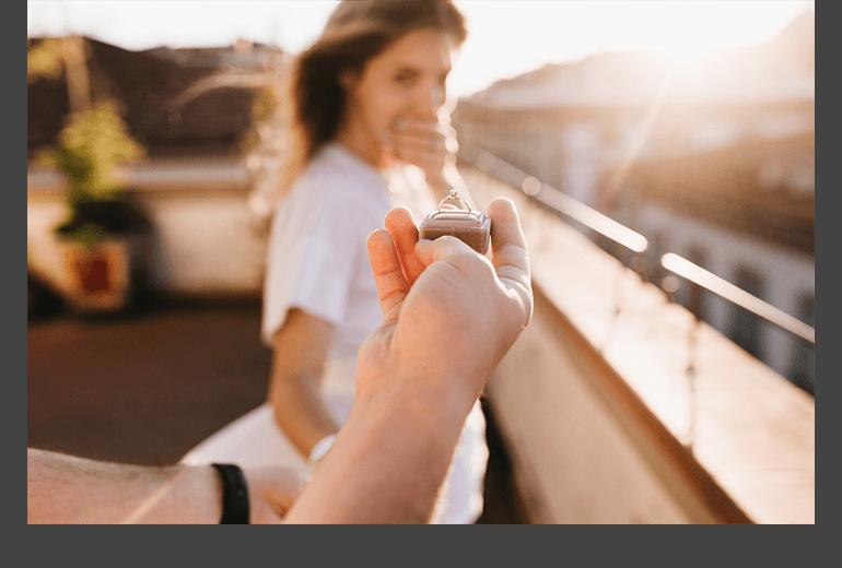 Verlobungsringe Trauring Garten